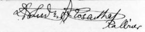 Podpis rabina Artura Rosenthala (z kolekcji jego córki (Judith Helfer)